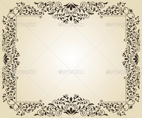 GraphicRiver Floral Frame 6871849