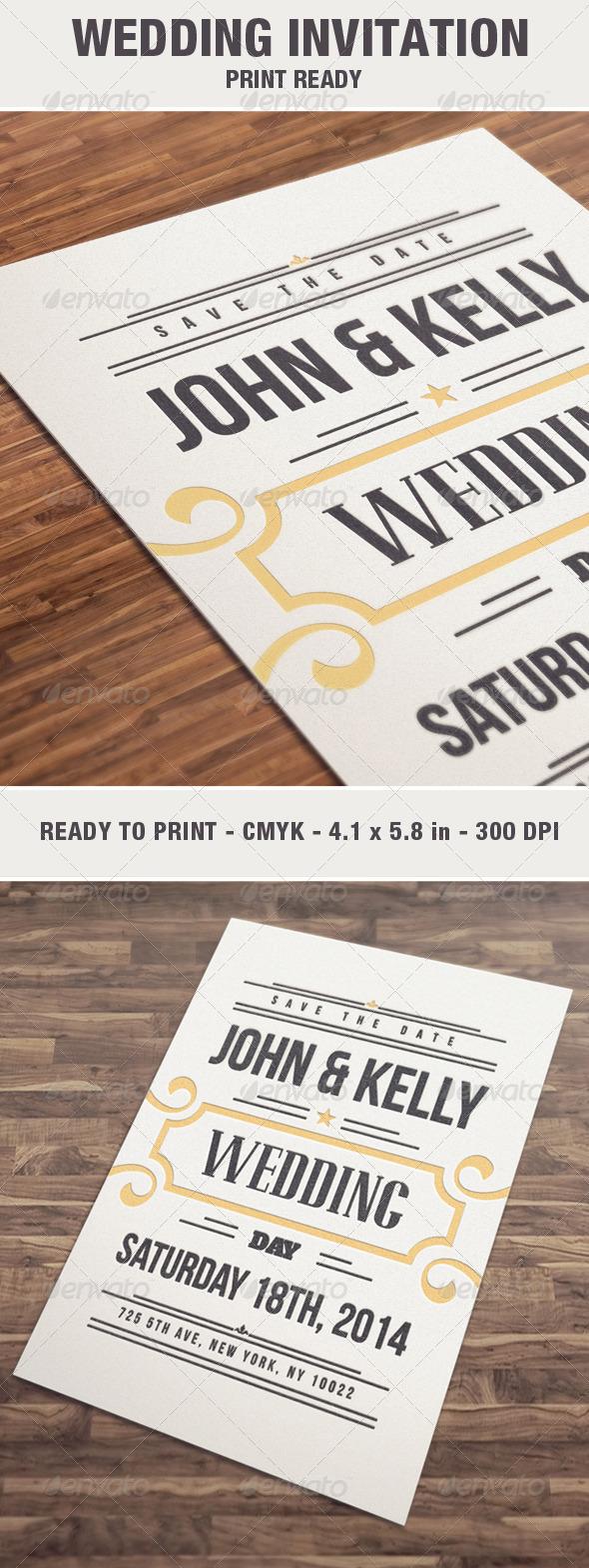 GraphicRiver Elegant & Vintage Wedding Invitation 6871870