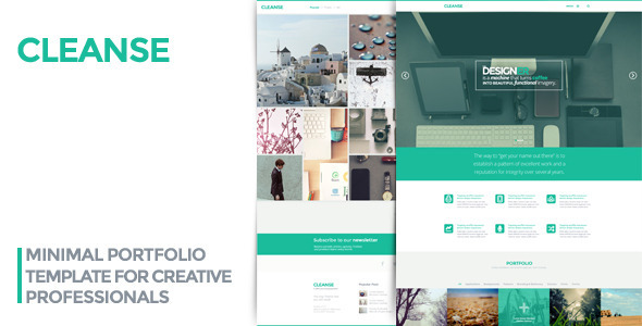 ThemeForest Cleanse Minimal Portfolio HTML Template 6862727