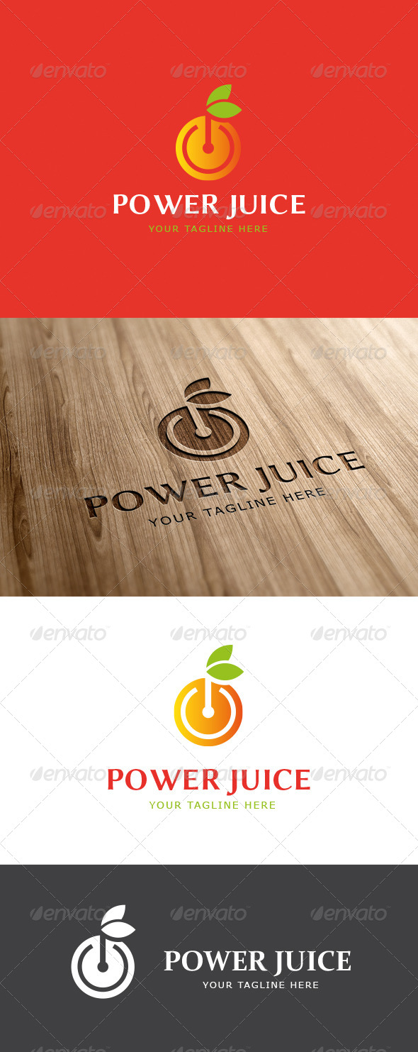 GraphicRiver Power Fruit Logo Template 6860501
