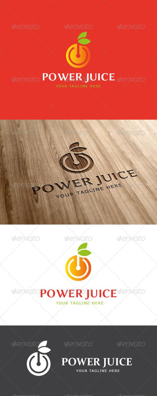 Power Fruit Logo Template - Food Logo Templates