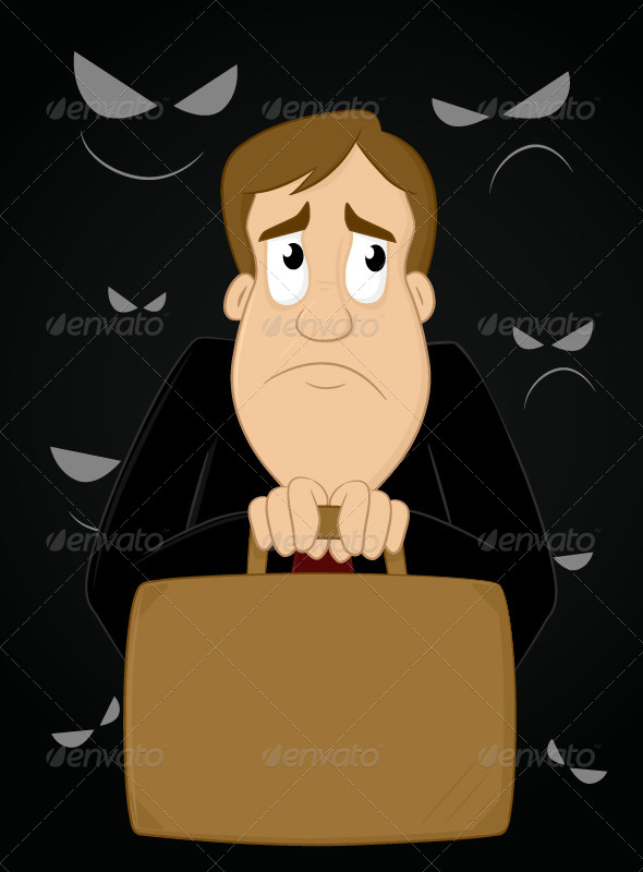GraphicRiver Scared Businessman 6872604