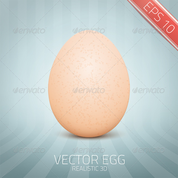 GraphicRiver Vector Realistic Yellow Egg 6872715