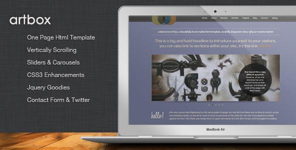 ArtBox - Creative Scrolling Portfolio Template - Portfolio Creative