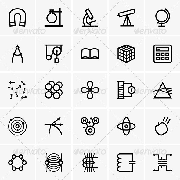 GraphicRiver Science Icons 6873216