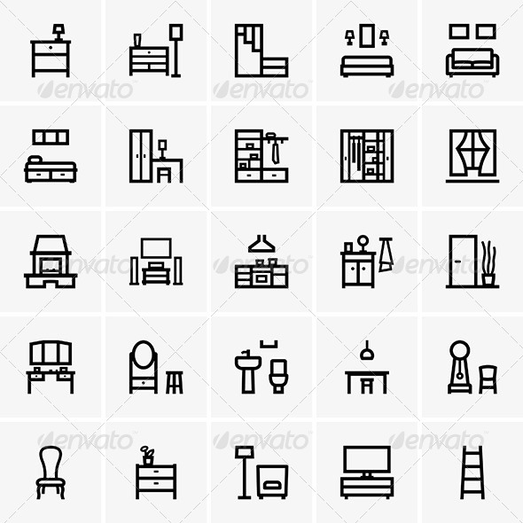 GraphicRiver Interior Icons 6873223