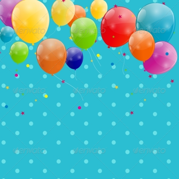 GraphicRiver Color Glossy Balloons Background 6873677