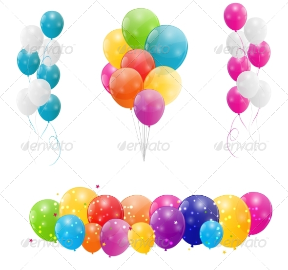 GraphicRiver Color Glossy Balloons Background 6873730