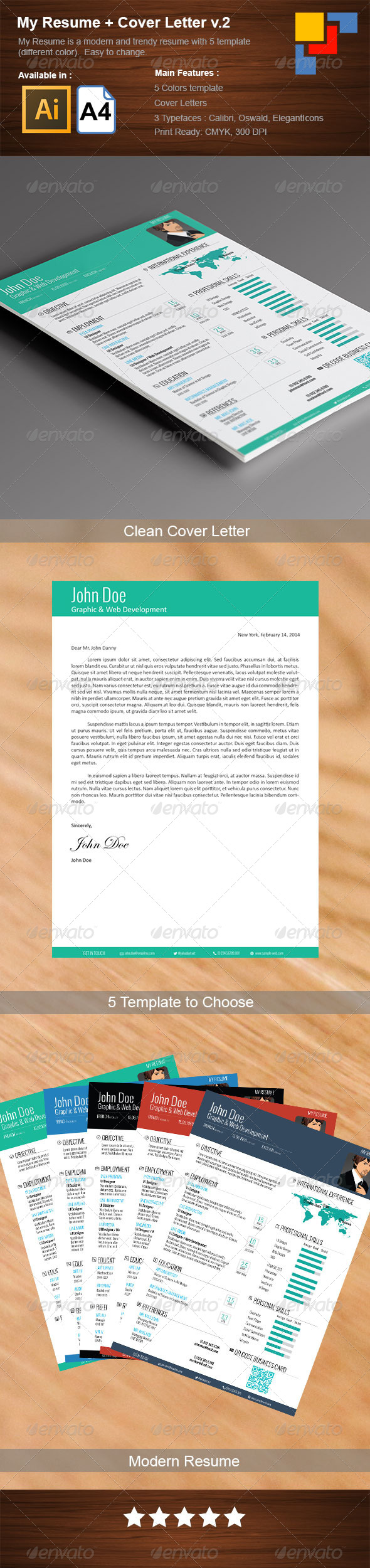 GraphicRiver 5 Piece My Resume 6873732