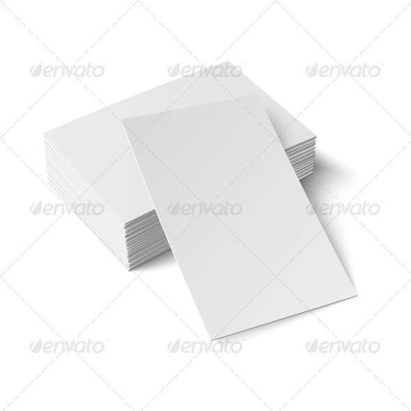 GraphicRiver Stack of Blank Business Cards 6873744