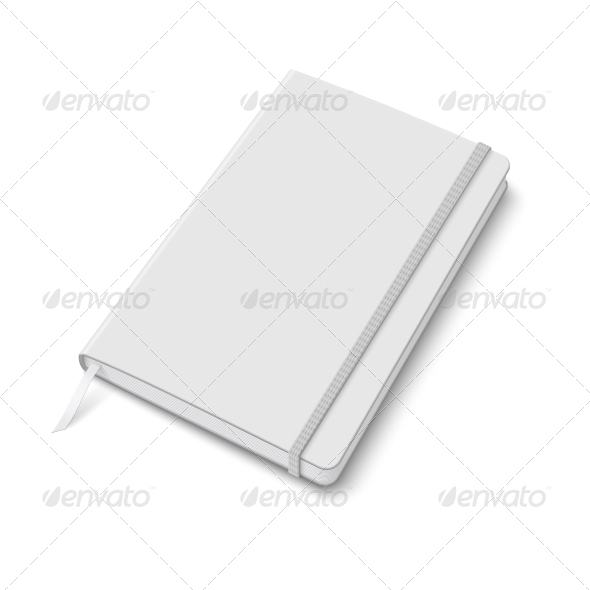 GraphicRiver Blank Copybook Template with Elastic Band 6873763