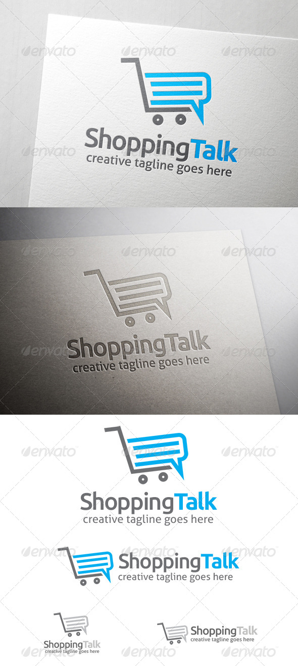 GraphicRiver Shop Talk Logo 6873765