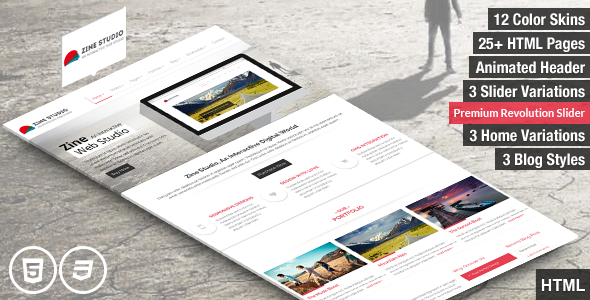 Zine- Responsive Parallax Business HTML5 Template - Business Corporate