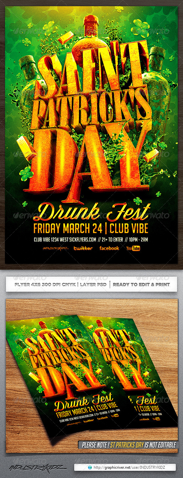 GraphicRiver St Patricks Day Flyer 6874296