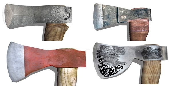 3DOcean Photorealistic Axe Pack 6874460
