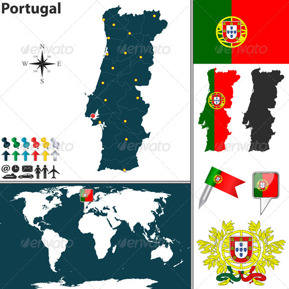 GraphicRiver Map of Portugal 6874579