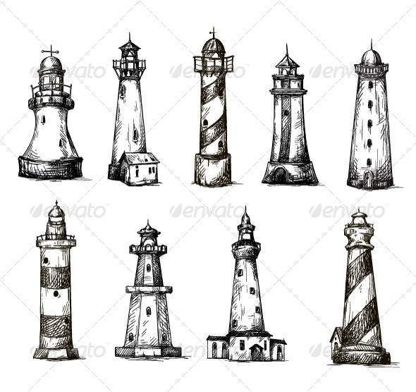 GraphicRiver Lighthouses 6874771