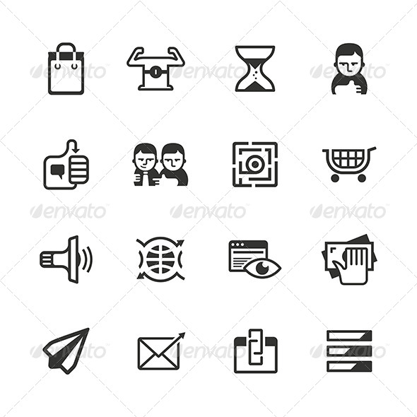 GraphicRiver 16 Content Marketing Icons 6875318