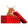 Christmas reindeer in the box vector - PhotoDune Item for Sale