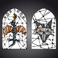 stained glass window vector - PhotoDune Item for Sale