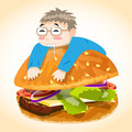 Man on Burger Vector Character - PhotoDune Item for Sale