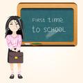 student near blackboard vector - PhotoDune Item for Sale