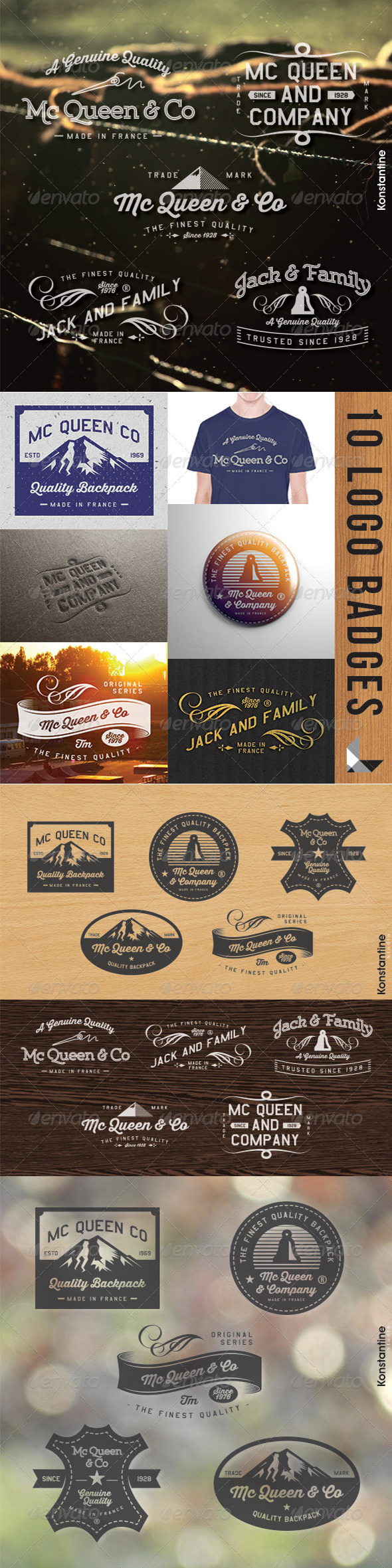 GraphicRiver 10 Vintage Label Packs 6875697
