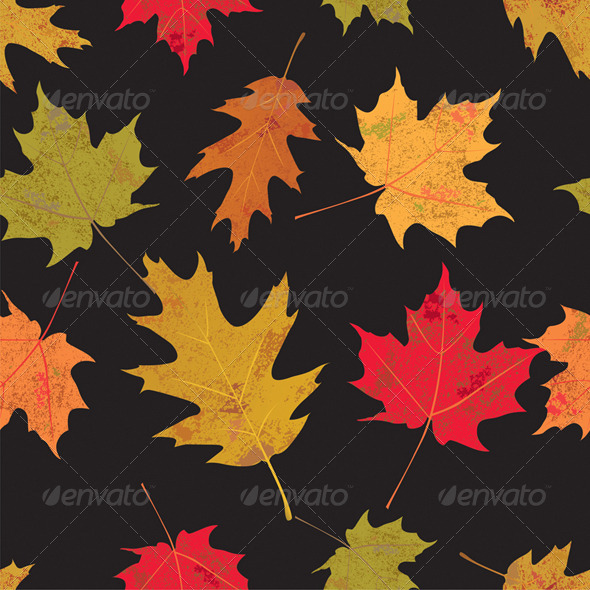 GraphicRiver Colorful Tileable Vector Autumn Leaves 6876179