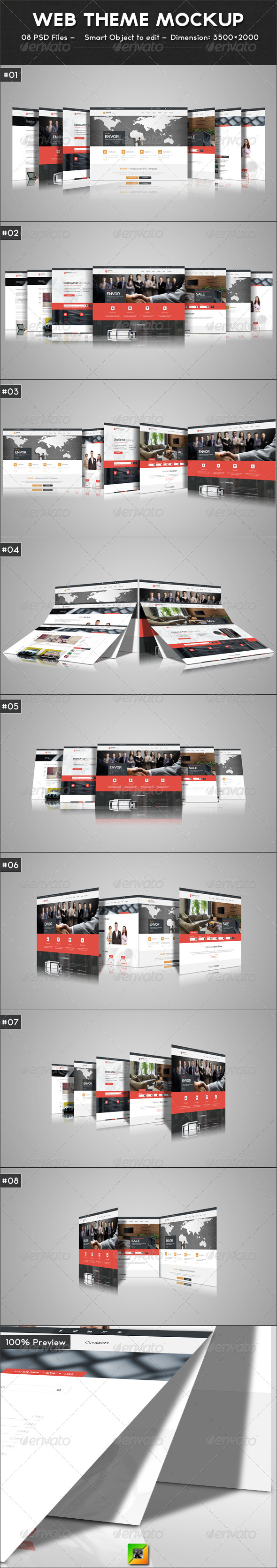 GraphicRiver Web Theme Mockup 6876183
