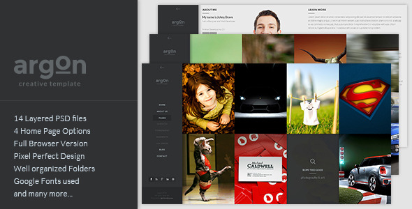 Argon - Creative PSD Template - Creative PSD Templates