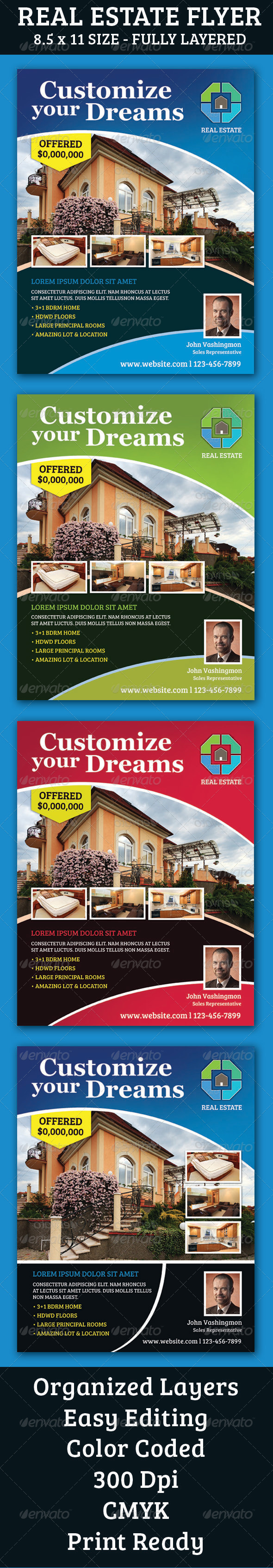 GraphicRiver Real Estate Flyer 6876326