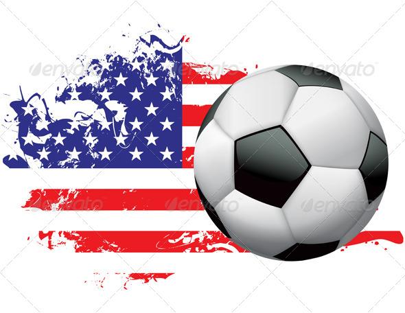 GraphicRiver United States Soccer Grunge Design 6876343