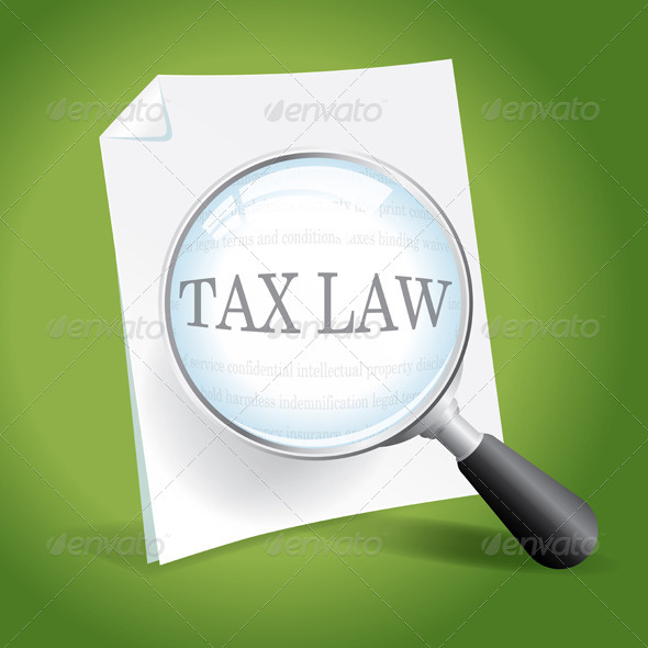 GraphicRiver Examining Tax Law 6876366