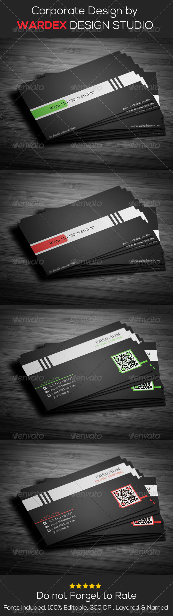 GraphicRiver 2 in 1- Corporate Business Card Design 6876495