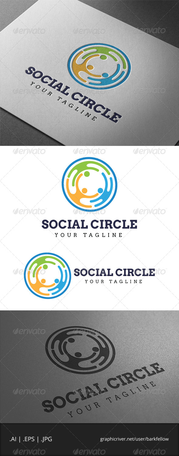 GraphicRiver Social Circle Logo 6876719