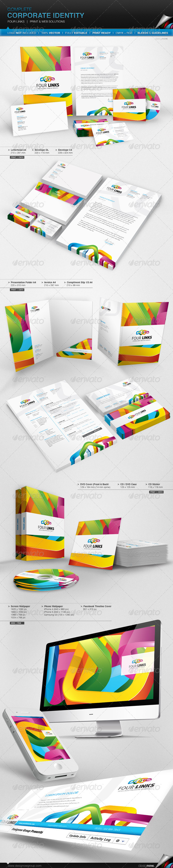 GraphicRiver Corporate Identity Four Links 6877394
