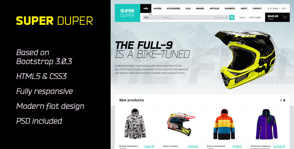 SuperDuper | HTML5 Template Responsive - Retail Site Templates