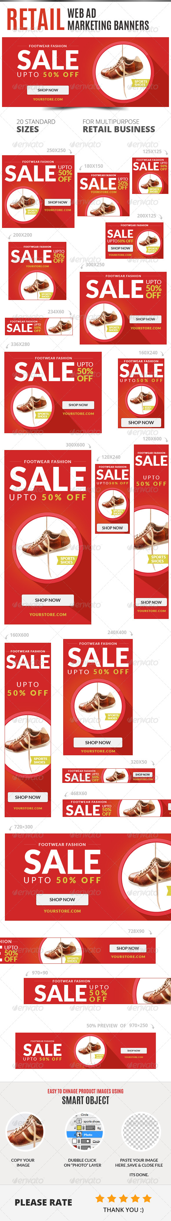 GraphicRiver Retail Web Ad Marketing Banners 6877798