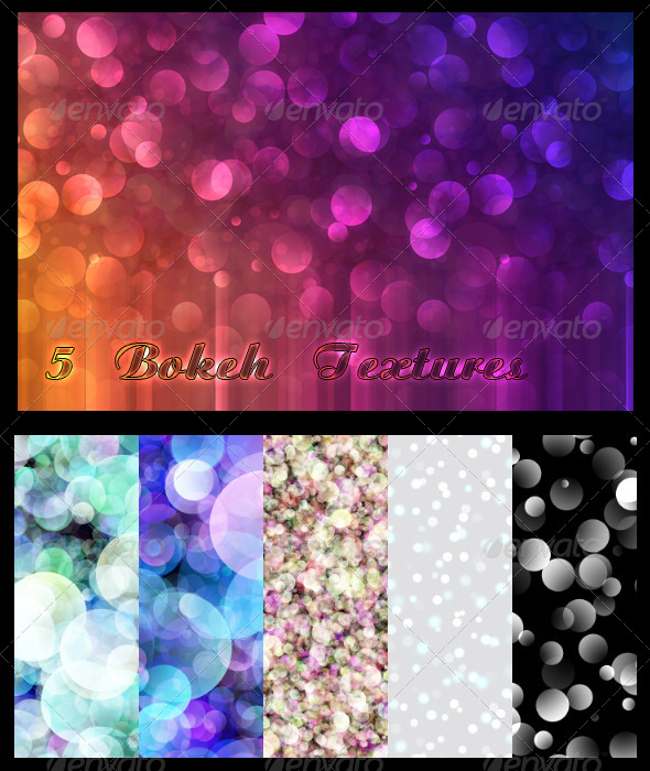 GraphicRiver 5 Bokeh Textures 6877807