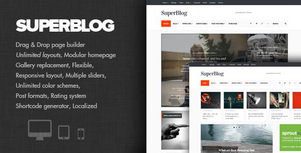 ThemeForest SuperBlog Powerful Blog & Magazine Theme 6877869
