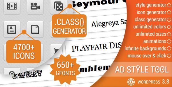 CodeCanyon AD Style Tool for WordPress 6878219