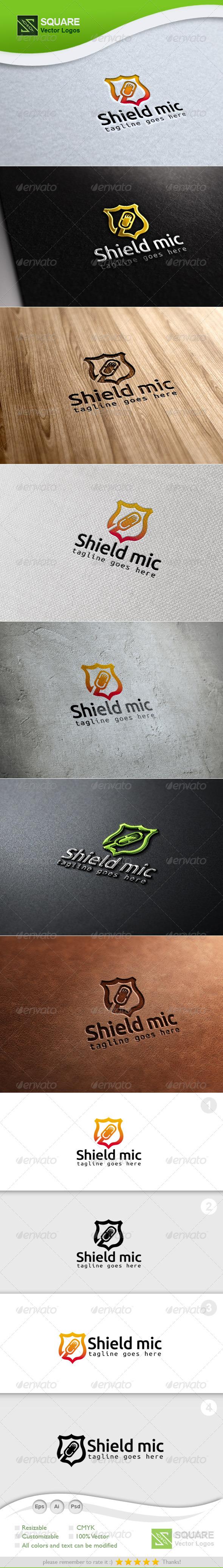 GraphicRiver Guard Mic Vector Logo Template 6878254