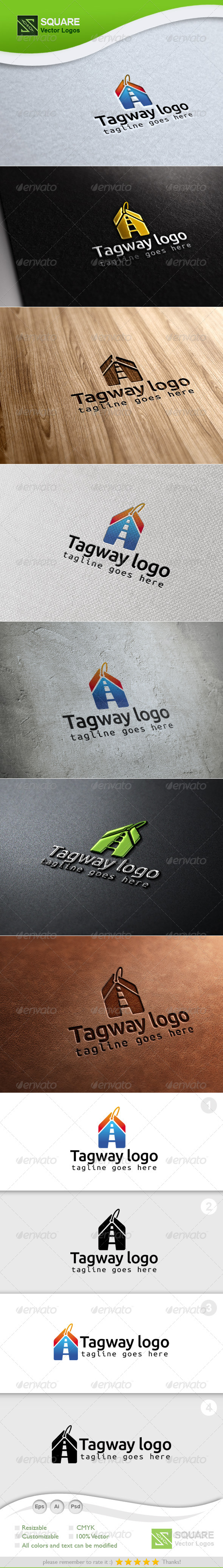 Tag, Way Vector Logo Template - Symbols Logo Templates