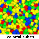 Falling Colorful Cubes - VideoHive Item for Sale