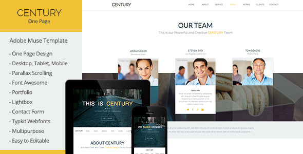 ThemeForest Century Multi-Purpose Muse Template 6808216