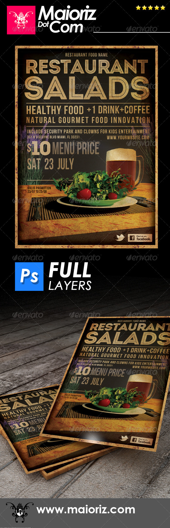 GraphicRiver Restaurant Salads Flyer 6878627