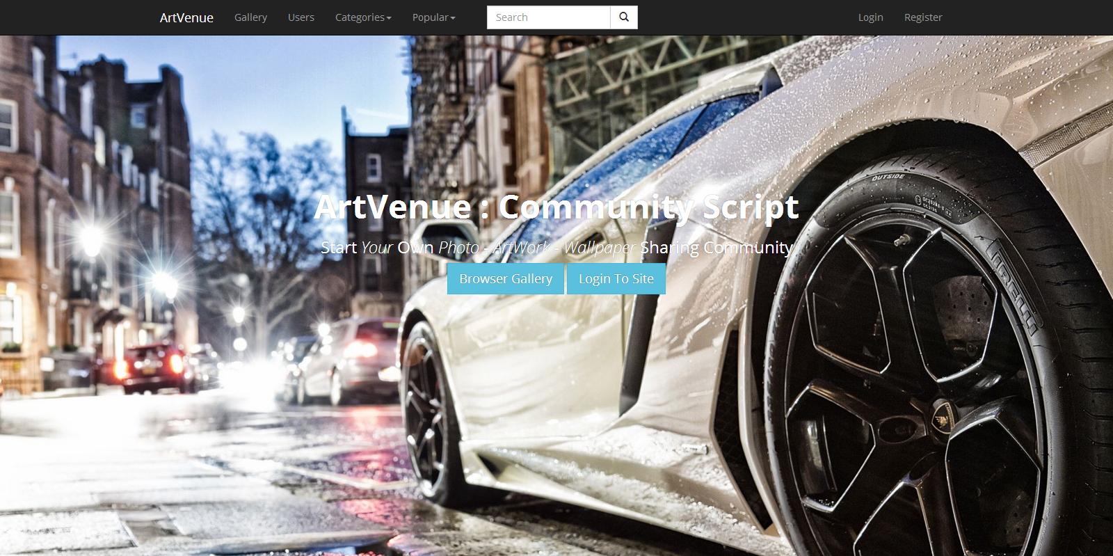 ArtVenue : Image Sharing Community Script