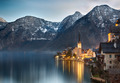 Dusk at Lake Hallstatt, Salzkammergut, Austrian Alps - PhotoDune Item for Sale