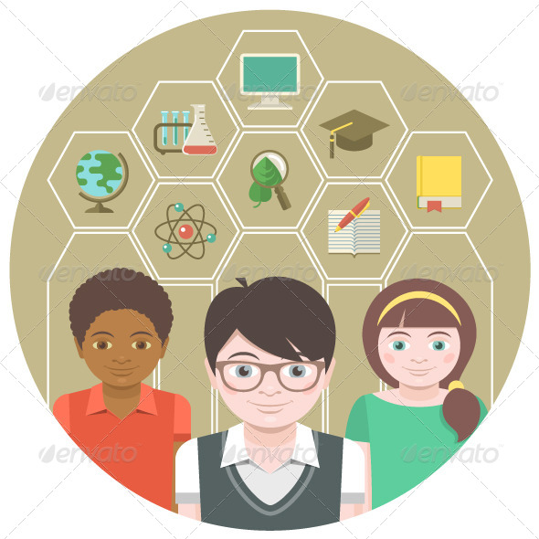 GraphicRiver Kids and School Subjects 6878881