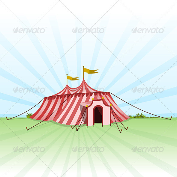 Graphic River Circus Entertainment Tent Vectors -  Conceptual  Commercial / Shopping  Services 720345